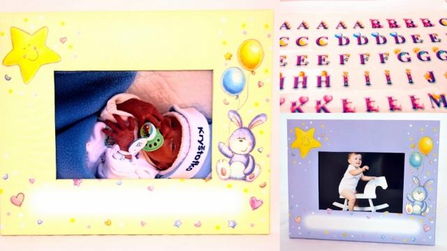 Fotorámeček BABY ALPHABET  + samolepky abeceda