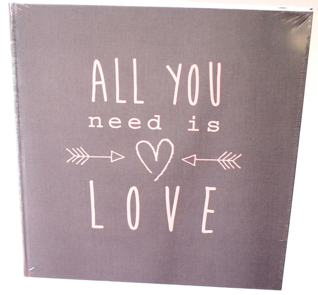 Fotoalbum ALL YOU NEED IS LOVE -GREY